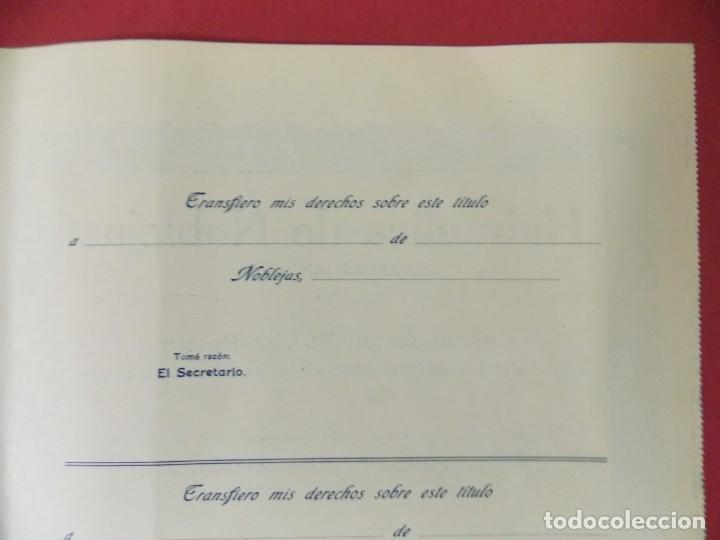 Coleccionismo Acciones Españolas: ACCION - HIDRAULICA DE NOBLEJAS , TOLEDO - AÑO 1929 - .. L500B - Foto 6 - 192925053