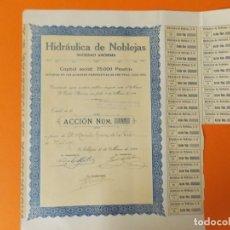 Coleccionismo Acciones Españolas: ACCION - HIDRAULICA DE NOBLEJAS , TOLEDO - AÑO 1929 - .. L500B. Lote 192925053