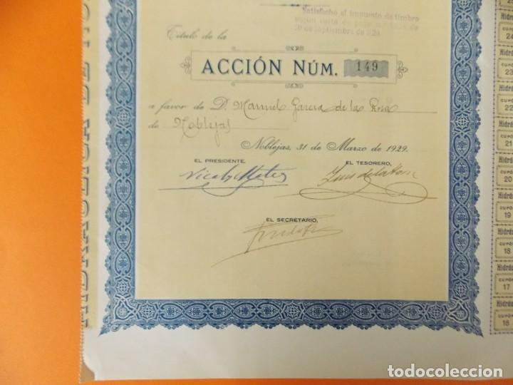 Coleccionismo Acciones Españolas: ACCION - HIDRAULICA DE NOBLEJAS , TOLEDO - AÑO 1929 - .. L500B - Foto 3 - 192925053