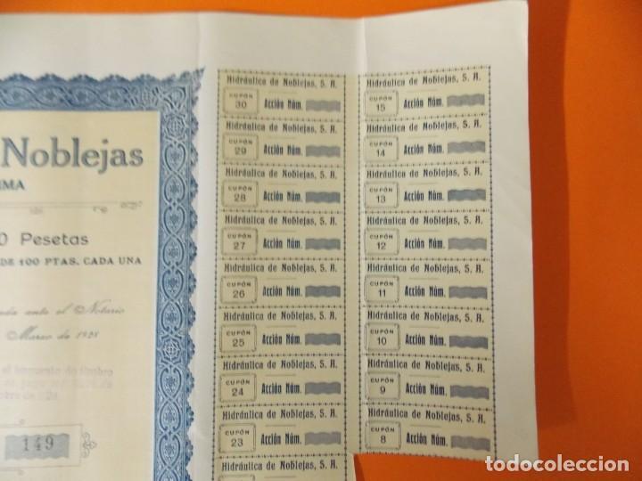 Coleccionismo Acciones Españolas: ACCION - HIDRAULICA DE NOBLEJAS , TOLEDO - AÑO 1929 - .. L500B - Foto 4 - 192925053