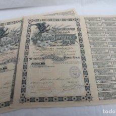 Coleccionismo Acciones Españolas: 2 ACCIONES MINAS CONSECUTIVAS , SIERRA ALMAGRERA, BARRANCO LA RAJA, ALMERIA 1909. Lote 193249615