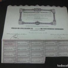 Coleccionismo Acciones Españolas: ACCION HIDROELECTRICA DE CATALUÑA. S.A. BARCELONA 31 MARZO 1972.CUPONES.. Lote 193561191