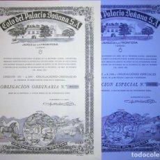 Colecionismo Ações Espanholas: COTO DE DOÑANA 2 OBLIGACIONES DIFERENTES 1909. Lote 193638443