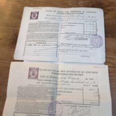 Coleccionismo Acciones Españolas: 2 POLIZAS DE BOLSA POR OPERACIÓN AL CONTADO. 1929 Y 1932. MONARQUIA, REPÚBLICA.. Lote 193943992