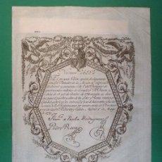 Coleccionismo Acciones Españolas: ACCIÓN BILLETE DE 2500 REALES. AÑO 1799. Lote 194212042