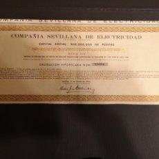 Coleccionismo Acciones Españolas: G1. ACCIÓN. COMPAÑIA SEVILLANA DE ELECTRICIDAD. 1955. Lote 194637208