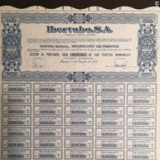 Coleccionismo Acciones Españolas: G9. ACCIÓN IBERTUBO. 1975. Lote 194638177