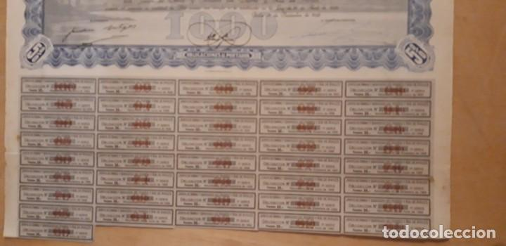 Coleccionismo Acciones Españolas: OBLIGACION DE ** JUNTA DE OBRAS Y SERV. PUERTO Y RIA DE AVILÉS 1000 PTS ** 1949 - Foto 3 - 195205677