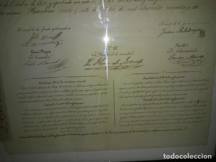 Coleccionismo Acciones Españolas: ACCION SOCIEDAD DE DILIGENCIAS Y MENSAGERIAS DE CATALUÑA - AÑO 1842 - EXCEPCIONAL RAREZA. - Foto 8 - 195371025