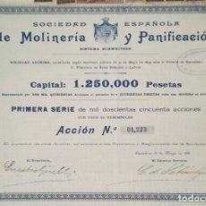 Coleccionismo Acciones Españolas: SOCIEDAD ESPAÑOLA DE MOLINERÍA Y PANIFICACIÓN - SISTEMA SCHWEITZER, BARCELONA (1899). Lote 195425617