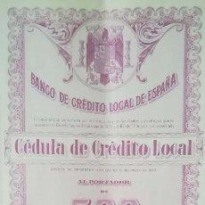 Coleccionismo Acciones Españolas: BANCO DE CRÉDITO LOCAL DE ESPAÑA, MADRID (1944). Lote 195427415