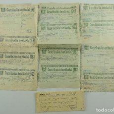 Collezionismo Azioni Spagnole: LOTE DE PAPELES CONTRIBUCIONES TERRITORIAL AÑO 1963 HACIENDA PUBLICA. Lote 196485683