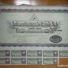 Coleccionismo Acciones Españolas: ACCION LABORATORIOS ARTIACH. ZARAGOZA.1946.. Lote 196933645