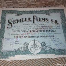 Collezionismo Azioni Spagnole: LOTE DE 10 ACCIONES DE SEVILLA FILMS 1938. Lote 197333945