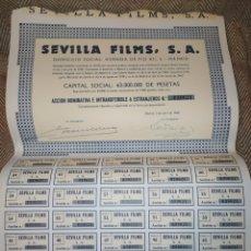 Collezionismo Azioni Spagnole: LOTE DE 10 ACCIONES DE SEVILLA FILMS 1968. Lote 197334968