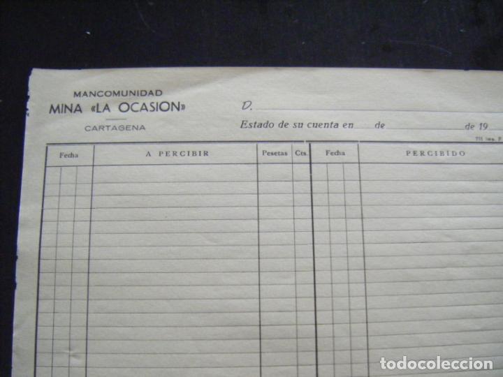 Coleccionismo Acciones Españolas: JML ACCION SOCIEDAD MINAS MINERA MURCIA MANCOMUNIDAD MINA LA OCASIÓN DOCUMENTO INTONSO AÑOS 1900 VER - Foto 2 - 198707437