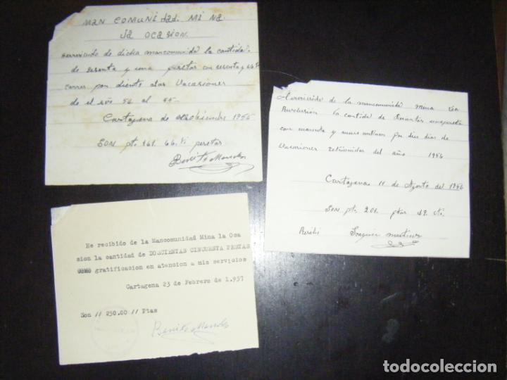 Coleccionismo Acciones Españolas: JML ACCION SOCIEDAD MINAS MINERA MURCIA MANCOMUNIDAD MINA LA OCASIÓN DOCUMENTO INTONSO LOTE 3 - Foto 2 - 198707777