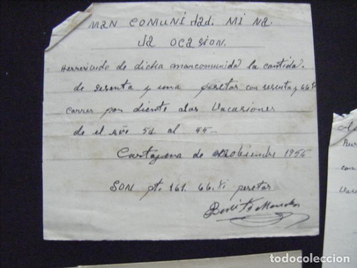 Coleccionismo Acciones Españolas: JML ACCION SOCIEDAD MINAS MINERA MURCIA MANCOMUNIDAD MINA LA OCASIÓN DOCUMENTO INTONSO LOTE 3 - Foto 4 - 198707777