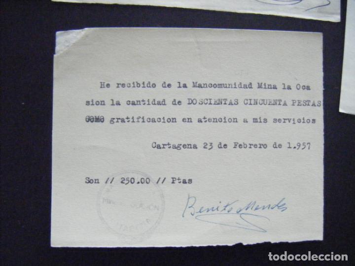 Coleccionismo Acciones Españolas: JML ACCION SOCIEDAD MINAS MINERA MURCIA MANCOMUNIDAD MINA LA OCASIÓN DOCUMENTO INTONSO LOTE 3 - Foto 5 - 198707777