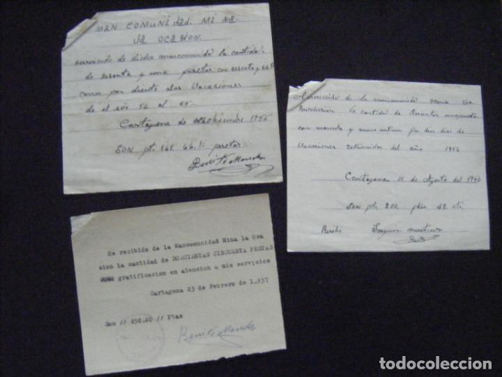 JML ACCION SOCIEDAD MINAS MINERA MURCIA MANCOMUNIDAD MINA LA OCASIÓN DOCUMENTO INTONSO LOTE 3 (Coleccionismo - Acciones Españolas)