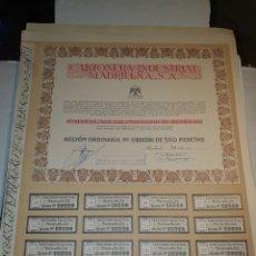 Coleccionismo Acciones Españolas: MADRID- CARTONERA INDUSTRIAL MADRILEÑA S.A. CAPITAL SOCIAL 9.000.000 DE PESETAS.. Lote 200399822