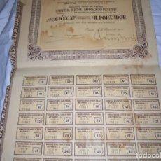 Coleccionismo Acciones Españolas: DROGUERIAS E INDUSTRIAS REUNIDAS S.A.ACCION DE 500 PESETAS OVIEDO 29 DE ENERO DE 1932. Lote 204312547