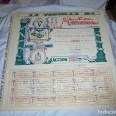 Coleccionismo Acciones Españolas: ACCION LA VEGUILLA S.A. TALLERES Y FUNDICION LEON 1957. Lote 204314412