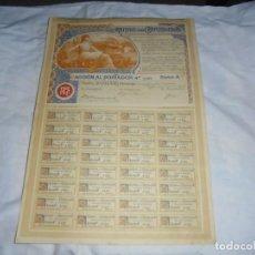 Coleccionismo Acciones Españolas: MINAS DE CARMENES ASTURIAS 1903 CON TODOS SUS CUPONES 500 PTS NOMINALES. Lote 204376210