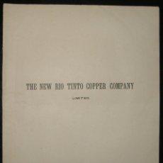Coleccionismo Acciones Españolas: DOCUMENTO EMPRESA MINERA DE HUELVA: THE NEW RIO TINTO COPPER COMPANY LIMITED (1896). Lote 205541431