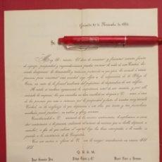 Coleccionismo Acciones Españolas: 1882 GRANADA ACCIONES DE LA PLAZA DE TOROS. Lote 205554680