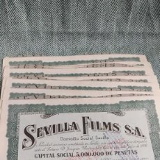 Collectionnisme Actions Espagne: 10 ACCIONES DE SEVILLA FILMS 1938 LOTE N2. Lote 205824487