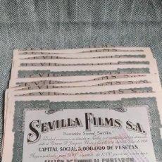 Collectionnisme Actions Espagne: 10 ACCIONES DE SEVILLA FILMS 1938 LOTE N3. Lote 205824611