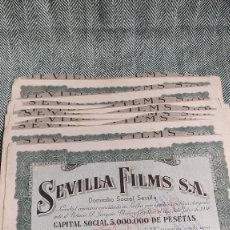 Collectionnisme Actions Espagne: 10 ACCIONES DE SEVILLA FILMS 1938 LOTE N4. Lote 205824700