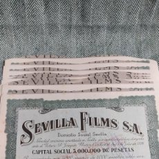 Collectionnisme Actions Espagne: 10 ACCIONES DE SEVILLA FILMS 1938 LOTE N7. Lote 205824945