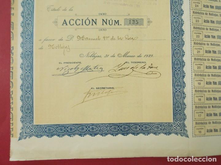 Coleccionismo Acciones Españolas: ACCION - HIDRAULICA DE NOBLEJAS , TOLEDO - AÑO 1929 - .. L500 - Foto 3 - 206975625