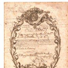 Collectionnisme Actions Espagne: VALE REAL DEUDA PUBLICA. FIRMAS DE CONDE DE CABARRUS - MARQUES DE FUERTE HIJAR - DUQUE DEL PARQUE. Lote 207162126