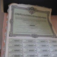 Coleccionismo Acciones Españolas: ACCION - OBLIGACION COMPAÑIA DE LOS CAMINOS DE HIERRO DEL NORTE DE ESPAÑA. MADRID 1917.. Lote 207765771