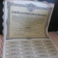 Coleccionismo Acciones Españolas: ACCION - OBLIGACION COMPAÑIA DE LOS CAMINOS DE HIERRO DEL NORTE DE ESPAÑA. MADRID 1918.. Lote 207766117