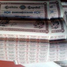 Coleccionismo Acciones Españolas: 25 ACCIONES CREDITO ESPAÑOL - 1883 SERIE C -. Lote 207768717