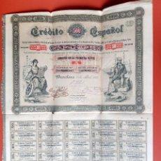 Coleccionismo Acciones Españolas: ACCION CREDITO ESPAÑOL 1883 - SERIE A. Lote 207769003