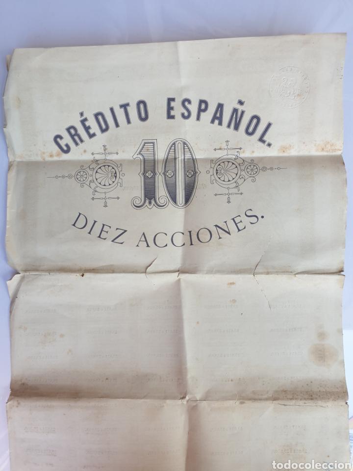 Coleccionismo Acciones Españolas: CREDITO ESPANOL ANO 1883 - Foto 6 - 208051757
