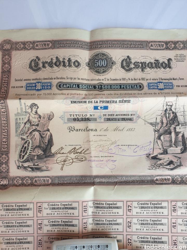 CREDITO ESPANOL ANO 1883 (Coleccionismo - Acciones Españolas)