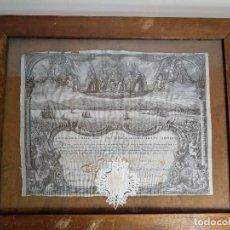 Coleccionismo Acciones Españolas: ACCIÓN DE LA REAL COMPAÑIA DE COMERCIO ESTABLECIDA EN BARCELONA, FECHADA 1756.. Lote 210789690
