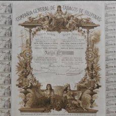 Coleccionismo Acciones Españolas: ACCIÓN - COMPAÑÍA GENERAL DE TABACOS DE FILIPINAS S.A. - 1882 - PCACC - REF227. Lote 211518842