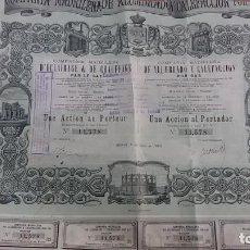 Collectionnisme Actions Espagne: ACCIÓN MADRILEÑA COMPAÑÍA DE ALUMBRADO Y CALEFACCIÓN POR GAS 1888. Lote 211728385