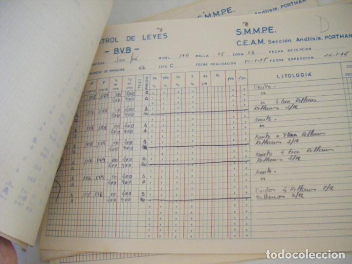 Coleccionismo Acciones Españolas: JML MINERIA MINAS CONTROL DE LEYES CANTERA SAN JOSE ANALISIS PORTMAN CARTAGENA MURCIA 1985. CONJUNTO - Foto 6 - 211965571