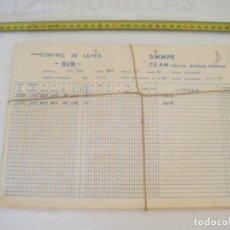 Coleccionismo Acciones Españolas: JML MINERIA MINAS CONTROL DE LEYES CANTERA SAN JOSE ANALISIS PORTMAN CARTAGENA MURCIA 1985. CONJUNTO. Lote 211965571