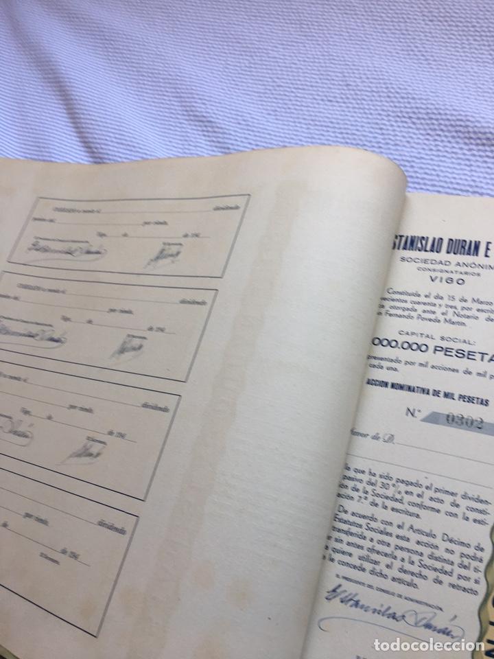Coleccionismo Acciones Españolas: ESTANISLAO DURAN E HIJOS - Lote de 100 antiguas acciones nominativas. - Foto 3 - 214103578