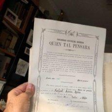 Coleccionismo Acciones Españolas: ALMERIA PULPI PILAR JARAVIA ACCION MINA QUIEN TAL PENSARA GEODA GIGANTE YESOS. Lote 221530305
