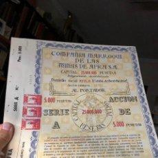 Collectionnisme Actions Espagne: MARRUECOS MINAS AFRA COMPAÑIA MARROQUI MINAS AFRA AFRA 1956. Lote 221530570